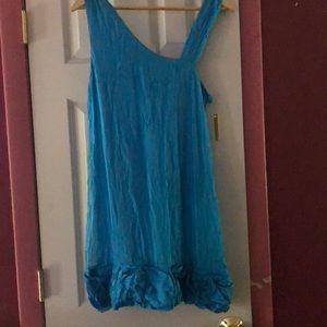 Alice & Olivia Turquoise Silk Dress sz Med NWT